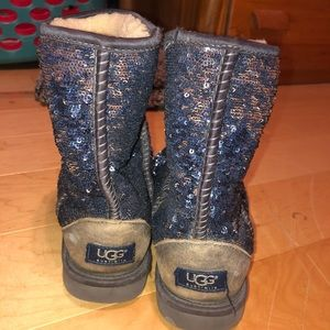 Midnight blue glitter uggs